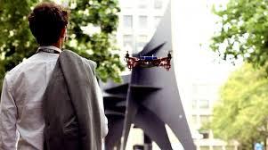 drone moniotring person